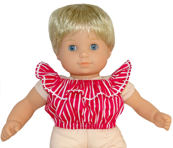 Bitty Baby and Bitty Twins Doll Clothes Pattern fun n frilly dress short top