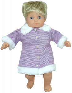 Bitty Baby and Bitty Twins Doll Clothes Pattern fur trimmed jacket