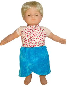 Bitty Baby and Bitty Twins Doll Clothes Pattern halter top and sarong