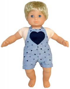 Bitty Baby and Bitty Twins Doll Clothes Pattern overalls short
