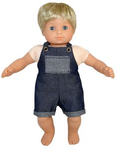 Bitty Baby and Bitty Twins Doll Clothes Pattern overalls short Cabbage Patch