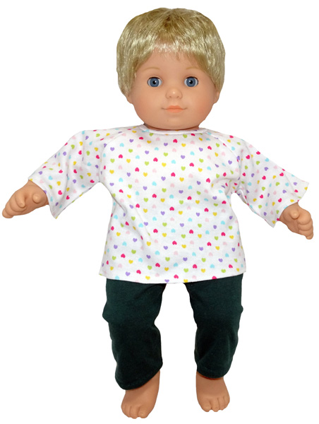 Bitty Baby and Bitty Twins Doll Clothes Pattern tights and t-shirt