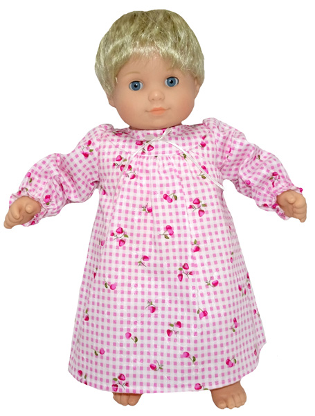 Bitty Baby and Bitty Twins Doll Clothes Pattern winter nightie American Girl