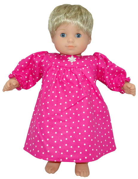 Bitty Baby and Bitty Twins Doll Clothes Pattern winter nightie Cabbage Patch