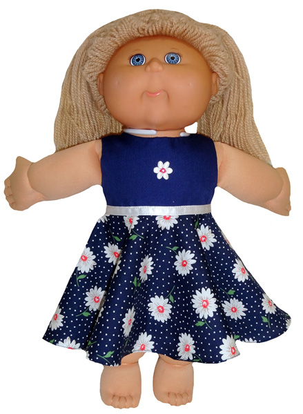 Cabbage Patch Kids 50s vintage dress no collar sleeveless doll clothes pattern