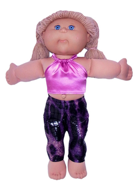 Cabbage Patch Kids tights and halter top doll clothes pattern