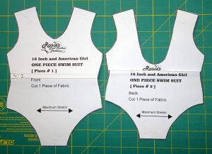 shortening one piece swimsuit doll clothes pattern