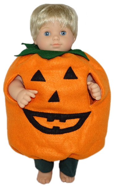 Bitty Baby and Bitty Twins Doll Clothes Pattern Pumpkin Costume