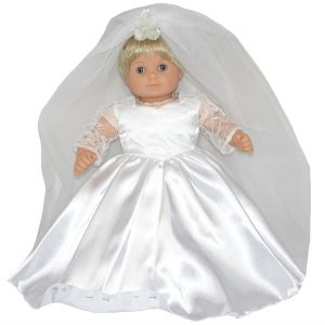 Bitty Baby and Bitty Twins Doll Clothes Pattern Wedding Dress