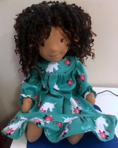 Barbara winter nightie doll clothes pattern waldorf inspired doll