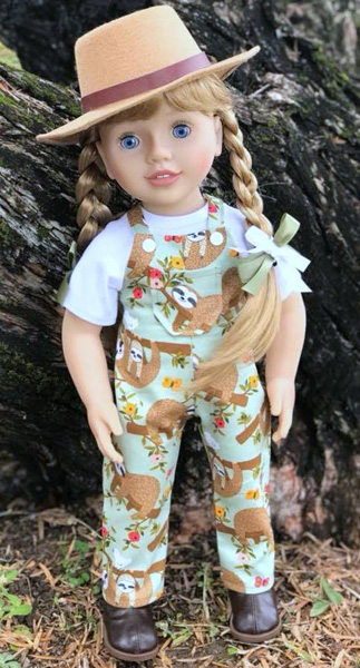 Karen overalls doll clothes pattern