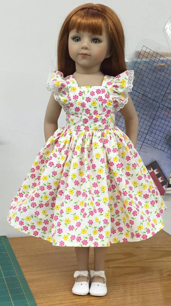 Norma Pinafore Dress doll clothes pattern