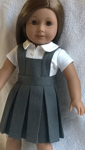 Ruth pinafore pleated skirt pattern