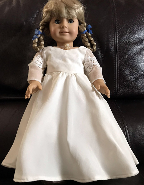 Becky American Girl wedding dress doll clothes patterns