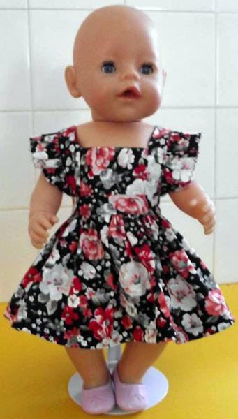 Julie's granddaugher summer dress doll clothes pattern