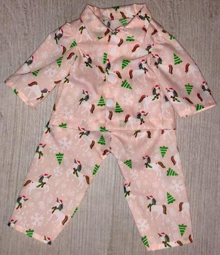 Lauryn pyjamas doll clothes pattern