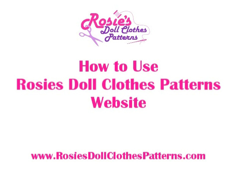 How to Use Rosies Doll Clothes Patterns Website