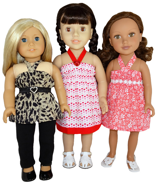 18 Inch American Girl Strappy Dress and Top Doll Clothes Pattern