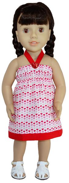 Australian Girl Strappy Dress Pattern with Trim