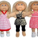 Cabbage Patch Strappy Dress and Top doll clothes pattern