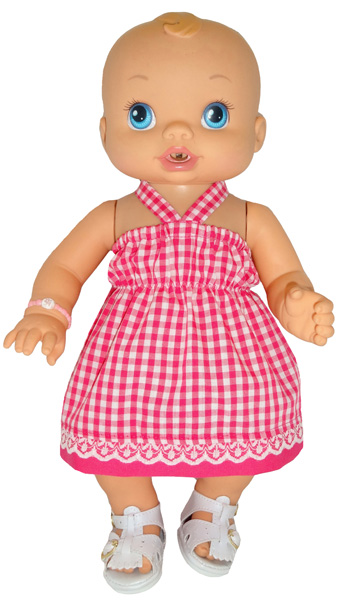 Strappy top on 33cm Baby Alive doll
