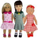 American Girl doll clothes pattern Drop Waist Dress 5 Ways