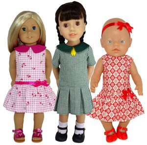 American Girl doll clothes pattern Drop Waist Dress 5 Ways