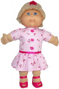 Cabbage Patch Drop Waist Dress Sleeves and Ruffle
