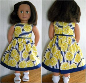 Dianne summer dress pattern front and back