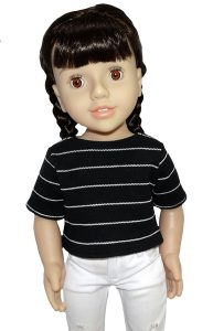 18 Inch Doll Clothes Pattern Trendy Transformable Top square hem and short sleeves