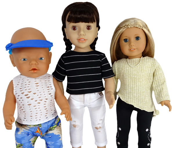 18 Inch Doll Clothes Pattern Trendy Transformable Top three options