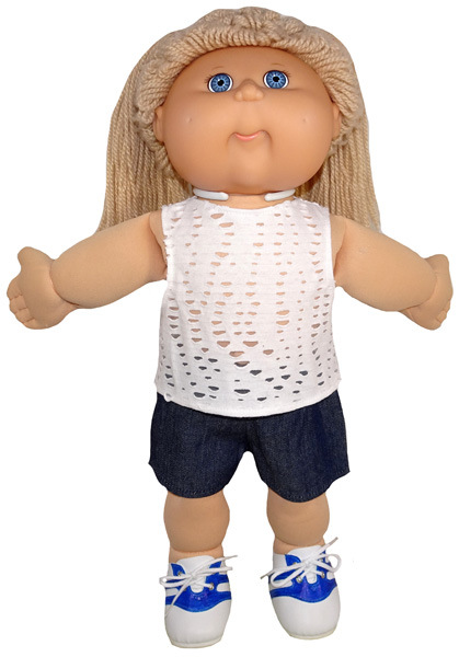 Cabbage Patch Trendy Transformable Top pattern sleeveless
