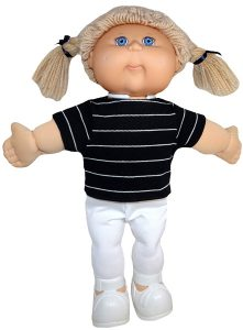 Cabbage Patch Trendy Transformable Top pattern sleeves square hem