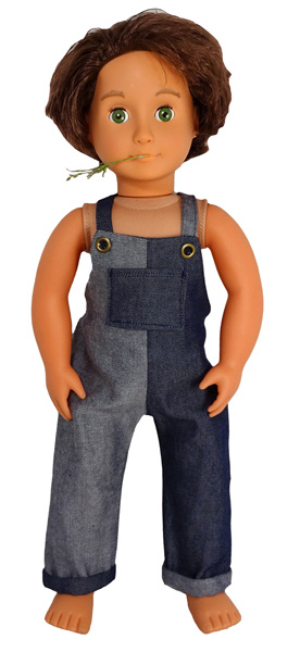 18 Inch American Girl Long Overalls Doll Clothes Pattern