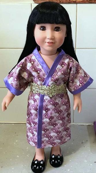 summer dressing gown as kimono