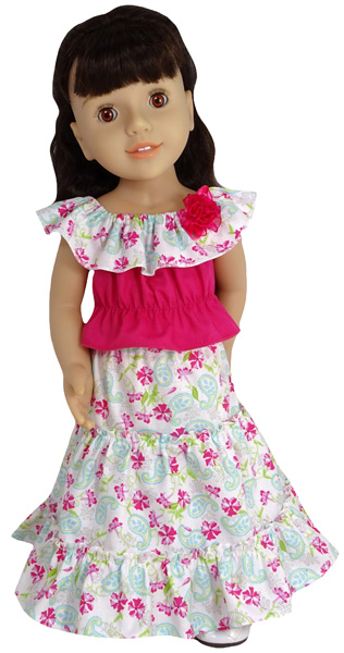 Australian Girl Doll Three Tiered Peasant Skirt