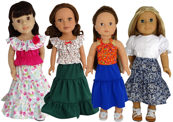Peasant Skirt doll clothes patterns