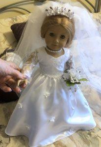 American Girl doll Wedding dress Nan Watson
