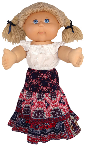 Cabbage Patch Long Peasant Skirt