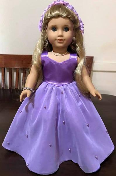 Debra Sharon American Girl doll Ball Gown