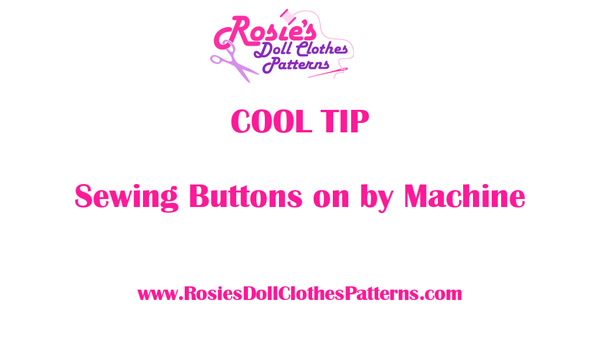 Sewing Buttons on by Machine