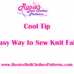 Sewing Knit Fabrics the easy way