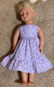 Kim First doll nightgown