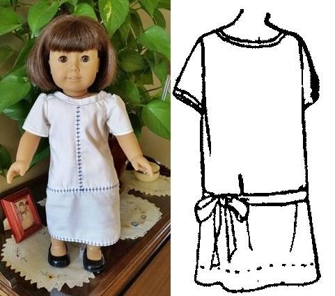 Laurie drop waist dress