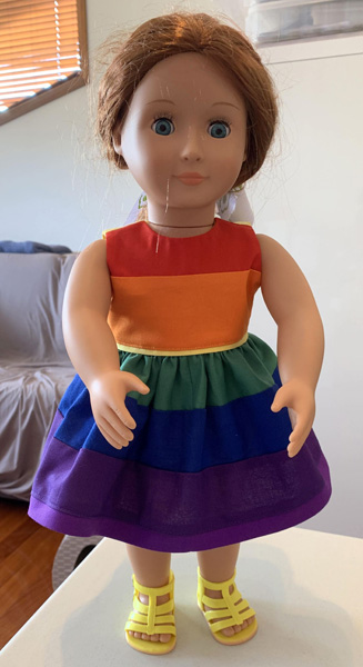 summer rainbow dress