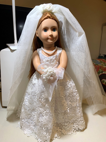 Wedding Dress on Our Generation Doll
