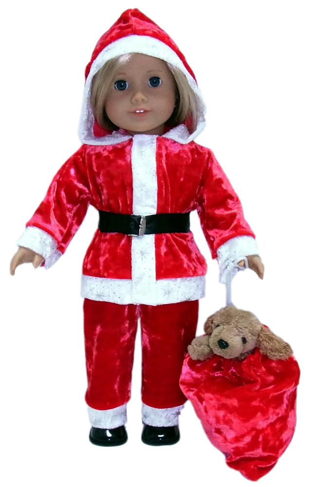 American Girl Funky Fur Santa Suit