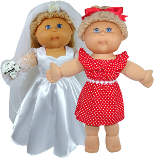 Cabbage Patch Wedding Dress Doll Clothes Patterns