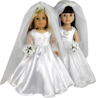 18 Inch Wedding Dress Doll Clothes Pattern